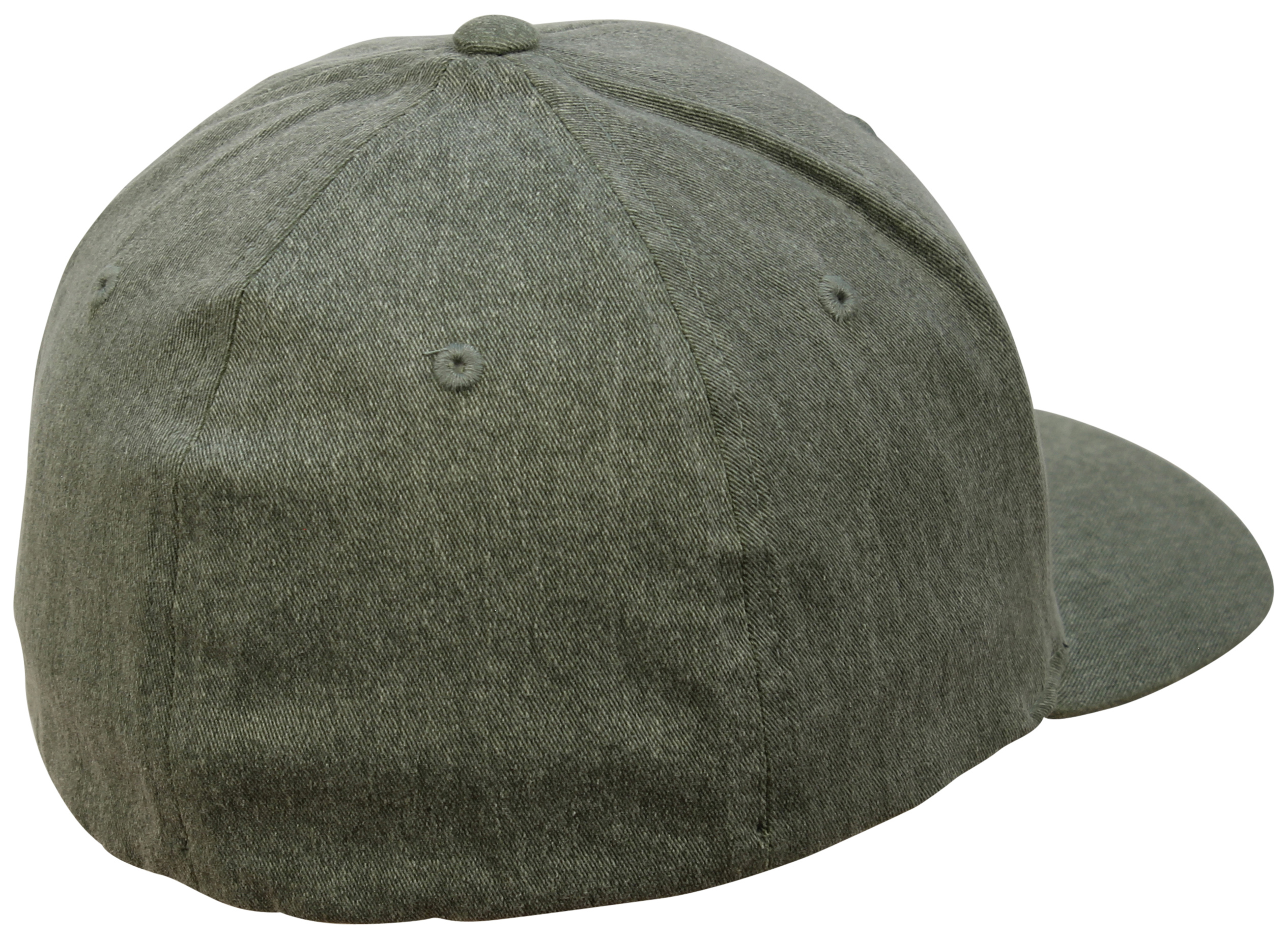 new concept 53a68 481bc ... Back of Fox Clouded FlexFit Hat - Heather Green