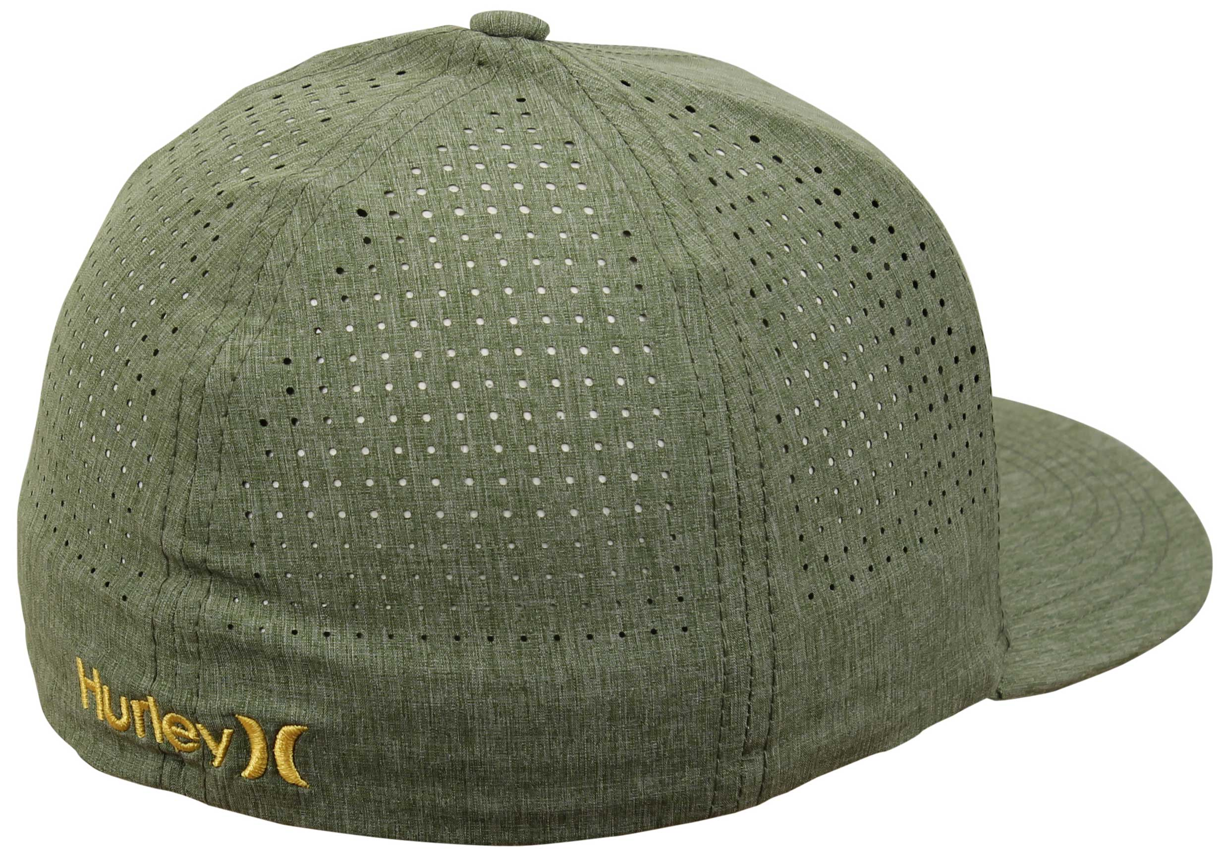 8f491bb8ebf ... france back of hurley phantom vapor hat palm green 345d5 b1fe7