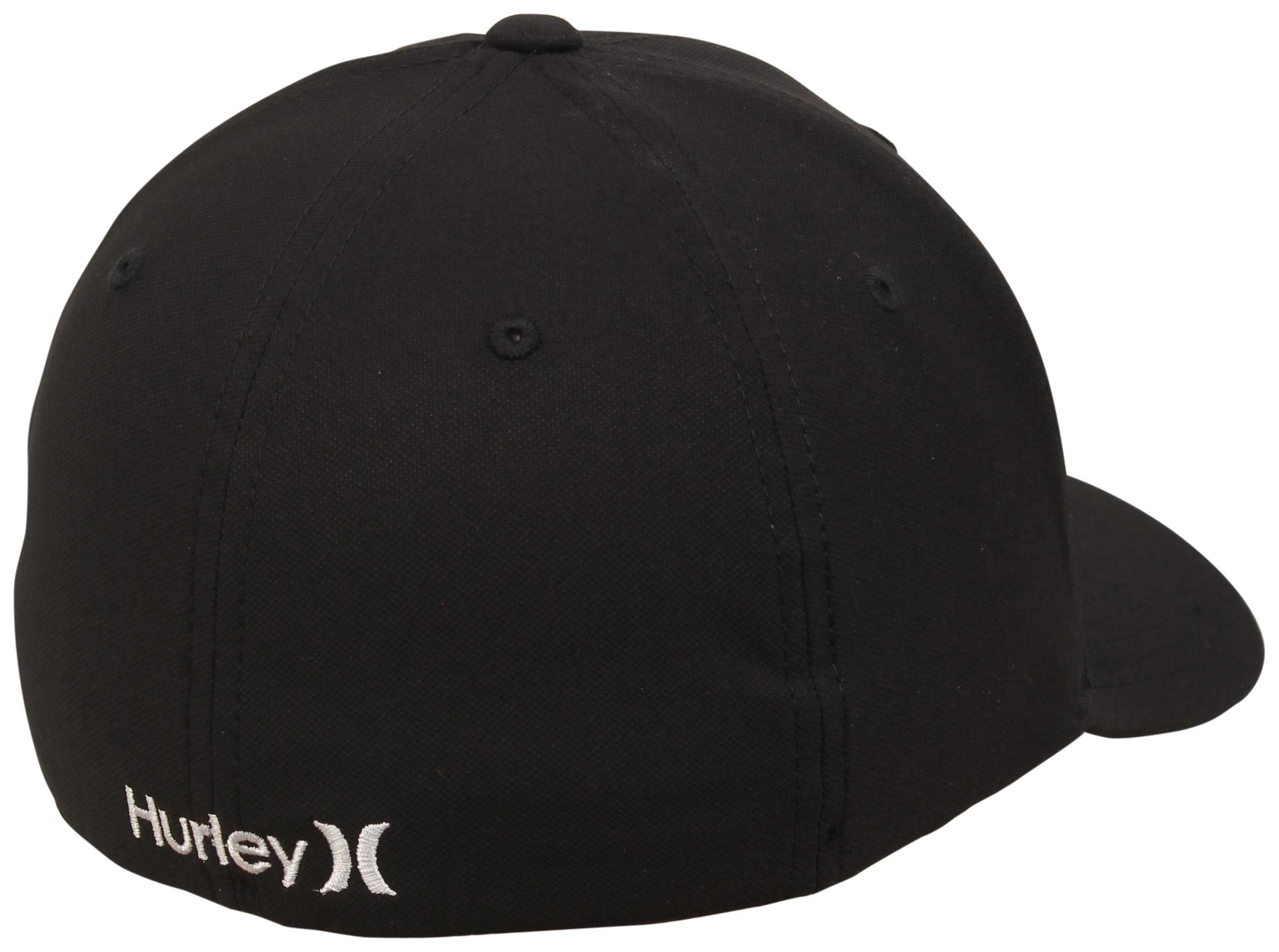 Hurley Dri-Fit One and Only Hat - Classic Black   White - New - 5dfdd6769698