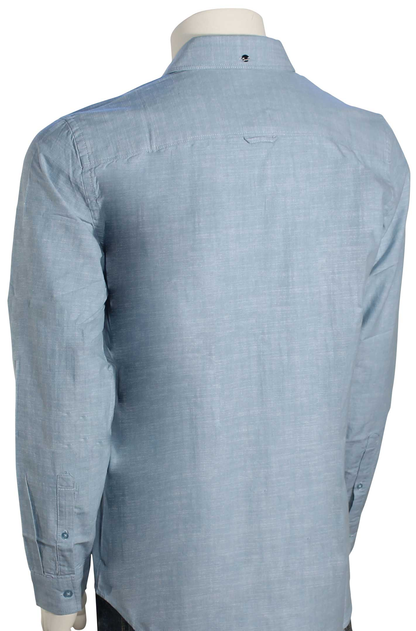 Hurley One And Only 30 Ls Button Down Shirt Cerulean New Ebay