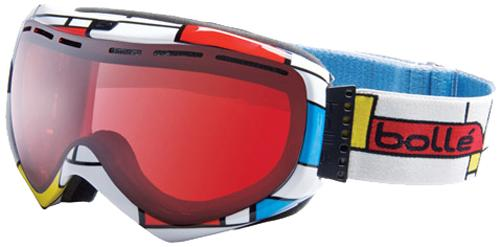 Bolle Quasar Snow Goggles - Blocks / Modulator Vermillon