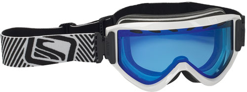 Scott Motive Snow Goggles - Gloss White / Blue Chrome