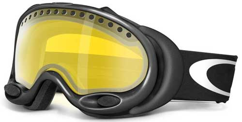 Oakley A Frame Snow Goggles - Jet Black / H.I. Persimmon