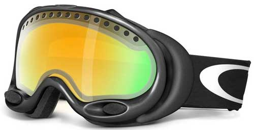 Oakley A Frame Snow Goggles - Jet Black / Fire Iridium