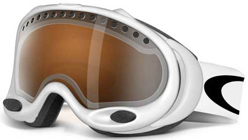 oakley goggles white  Oakley A Frame Snow Goggles - Matte White / Black Iridium For Sale ...