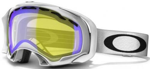 Oakley Splice Snow Goggles - Polished White / H.I. Amber Polarized