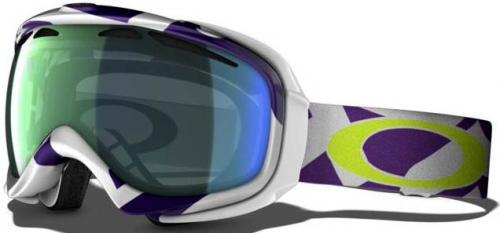 Oakley Elevate Snow Goggles - Factory Slant Purple / Emerald Iridium