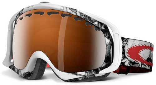 oakley goggles on sale  oakley crowbar seth morrison goggles snow white skulls / black iridium