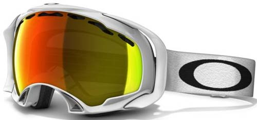 oakley goggles on sale  oakley splice snow goggles polished white / fire iridium