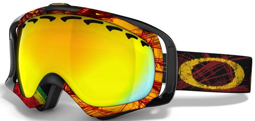 2586ca7909 Oakley Tanner Hall Crowbar Snow Goggles - Rasta Lion   Fire Iridium ...