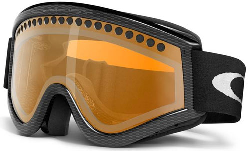 orange oakley goggles  Oakley L Frame Snow Goggles - Carbon Fiber / Persimmon For Sale at ...