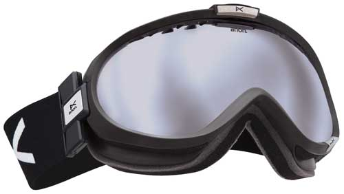 Anon Solace Snow Goggles - Black / Silver Mirror