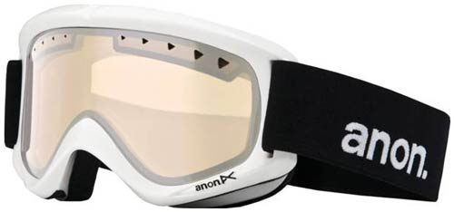Anon Helix Snow Goggles - White / Silver Amber