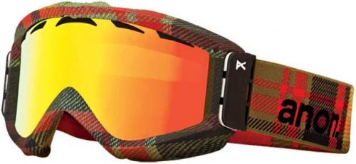 Anon Figment Snow Goggles - Lumberjack / Red Solex