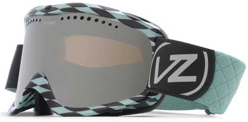 Von Zipper Sizzle Snow Goggles - Diamonds R 4Ever Aqua / Smoke Grey Chrome