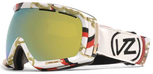 Von Zipper Dojo Snow Goggles - Ribbons and Gold / Gold Chrome