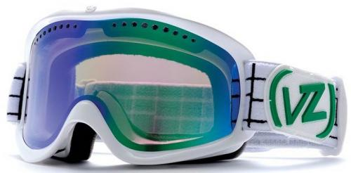 Von Zipper Sizzle Snow Goggles - White Gloss / Smoke Green Chrome