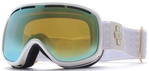 Von Zipper Chakra Snow Goggles - White Metallic / Gold Chrome