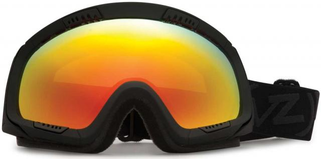 Von Zipper Feenom Snow Goggles - Blackout Satin / Fire Chrome