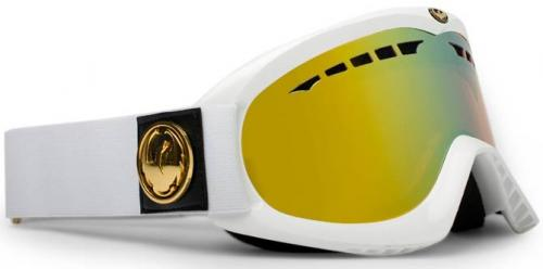 Dragon DX Snow Goggles - White / Gold Ionized