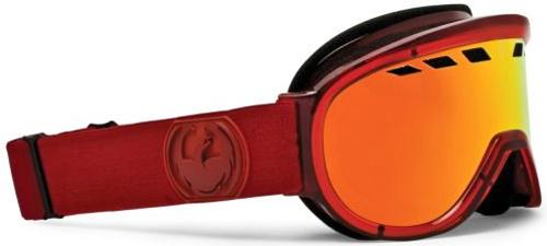 Dragon D1XT Snow Goggles - Ruby Red / Red Ionized