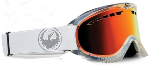 Dragon DXS Snow Goggles - Skull Candy Co-Op / Clear / Red Ionized