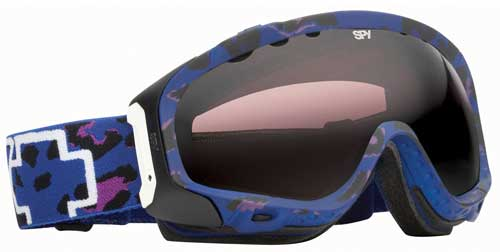 Spy Soldier Snow Goggles - Blue Cheetah / Persimmon Silver Mirror