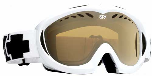 Spy Targa II Snow Goggles - Shiny White / Bronze Gold Mirror