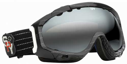 Spy Soldier Snow Goggles - Black and White Stripes / Bronze Silver Mirror