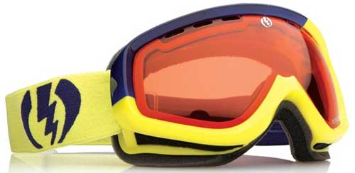 Electric EGK Snow Goggles - Navy and Lime / Orange