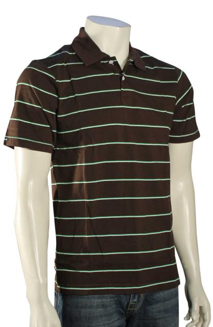 Hurley Double Up Polo - Brown / Green