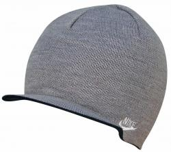 Nike Reversible Visor Beanie - Grey / Black