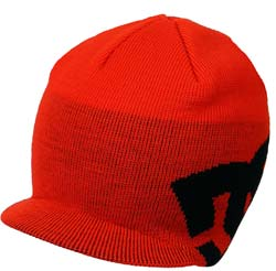 DC Big Star Visor Beanie - Red / Black