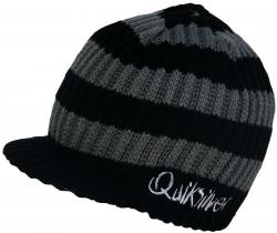 Zoom for Quiksilver Treaty Visor Beanie - Black Stripe
