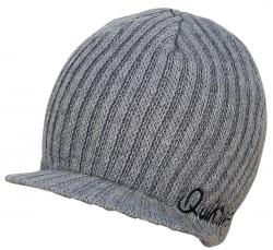 Quiksilver Treaty Visor Beanie - Heather Grey