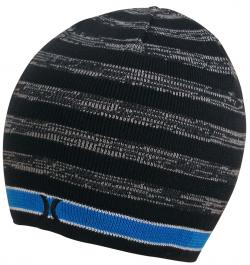 Hurley Lightweight One and Only Stripe Beanie - Black