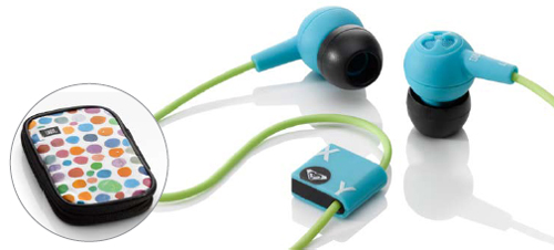 Roxy Reference 250 Earphones - Blue / Green