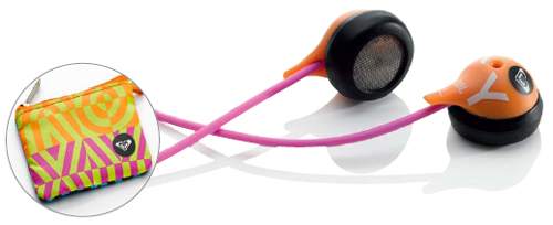 Roxy Reference 230 Earphones - Orange / Pink