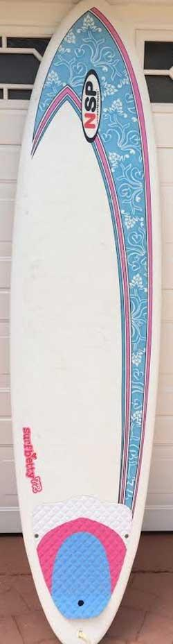 Used NSP Surf Betty Funboard - 7'2