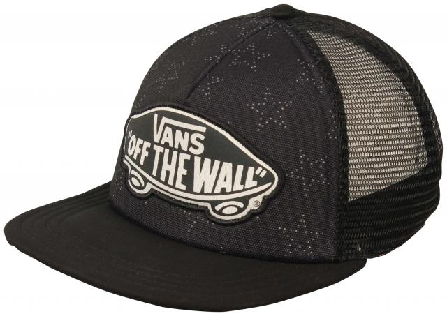 Vans Beach Girl Women's Trucker Hat - Star Dot Black