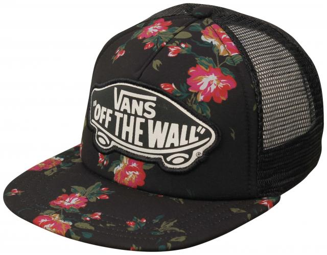 027b1b2696b Vans Beach Girl Women s Trucker Hat - Floral Black For Sale at  Surfboards.com (11814423)