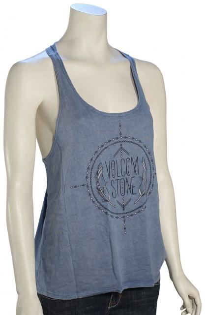Volcom Road Stop Twist Back Women's Tank - Chambray