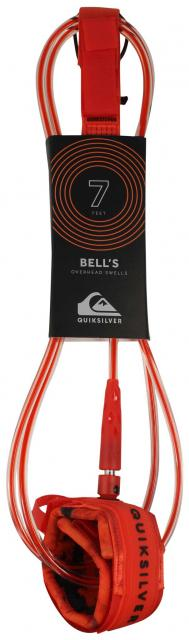 Quiksilver Bell's 7' Surfboard Leash - Red