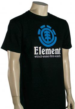 Zoom for Element Vertical T-Shirt - Black