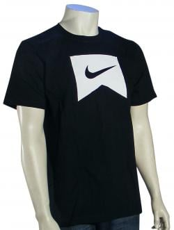 Nike Ribbon Icon T-Shirt - Black / White