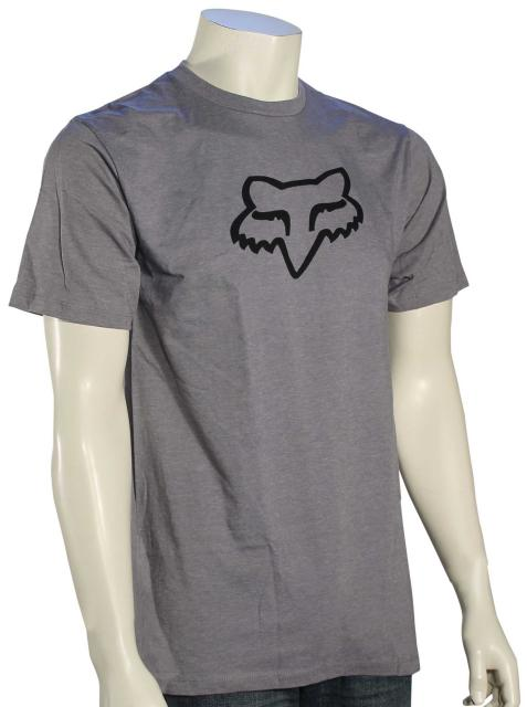 Fox Legacy Fox Head T-Shirt - Heather Graphite