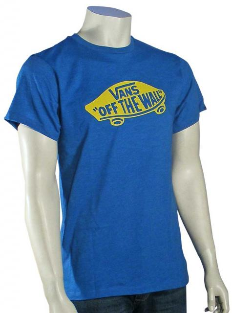 3e7921149a Vans OTW T-Shirt - Royal Heather   Yellow For Sale at Surfboards.com  (1614405)