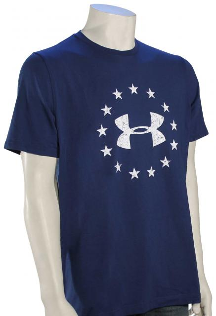 Under Armour Freedom Logo T-Shirt - Blackout Navy / White