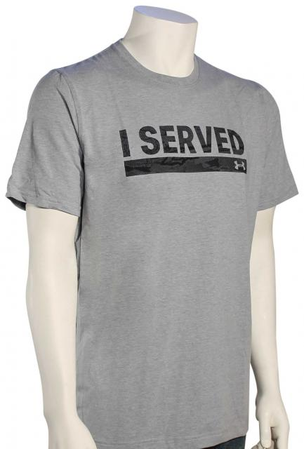 Under Armour I Served T-Shirt - Steel Light Heather / Black
