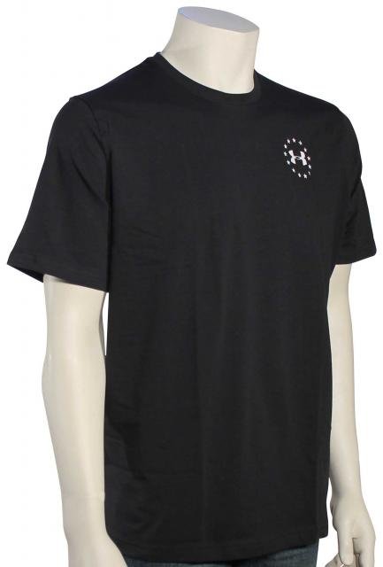 Under Armour Freedom Flag T-Shirt - Black / White